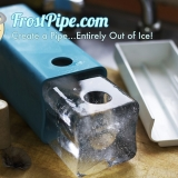 Frost Pipe - Ever imagined what it would feel like to smoke a pipe made entirely...out of ice? Now you can! The Frost Pipe is a ground breaking innovation in smoking technology. The Frost Pipe gives you the ability to easily make a pipe out of ice. Just plug the hole with the included cork, pour water in, and then freeze! Get creative and try different combinations of colors and flavours.